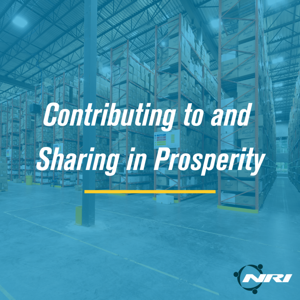 Contributing to and Sharing in Prosperity NRI Core Value