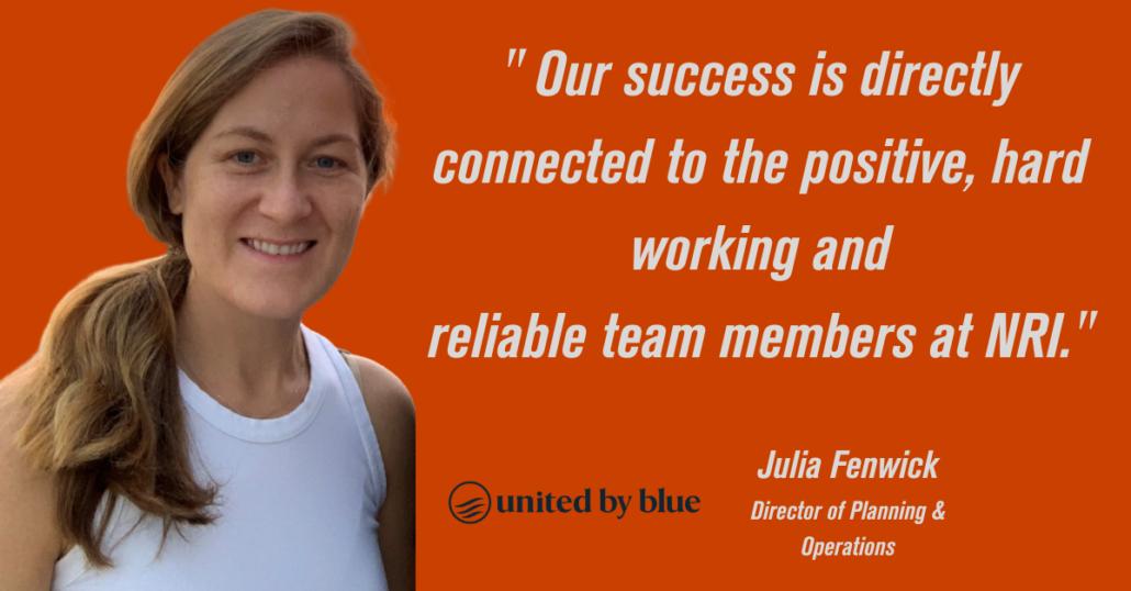 United by Blue Julia Fenwick NRI Better Together