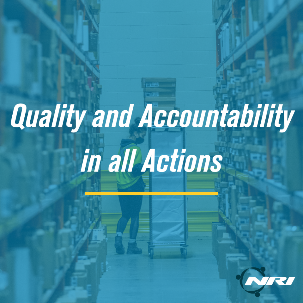Quality and Accountability in All Actions